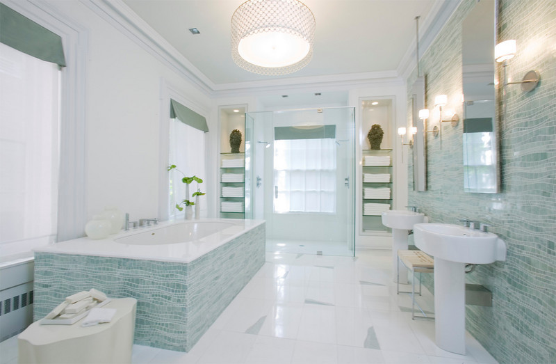 baños azules